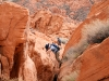 Ari practices a vital canyon country skill.