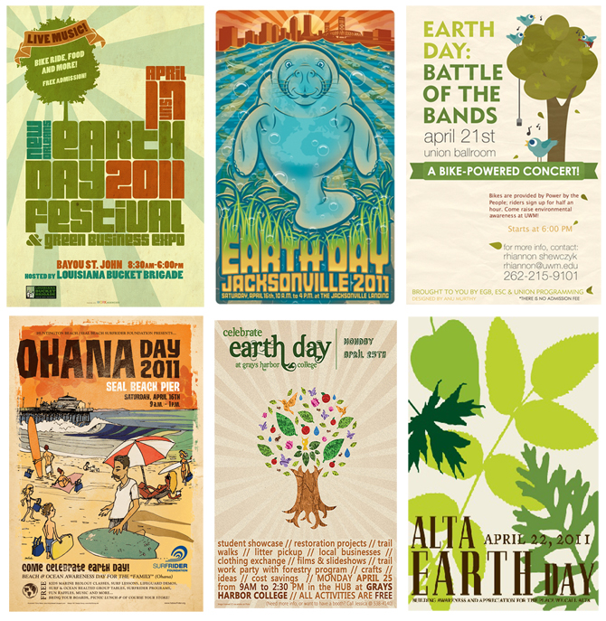 earth day posters 2011. This years favorite: Earth Day