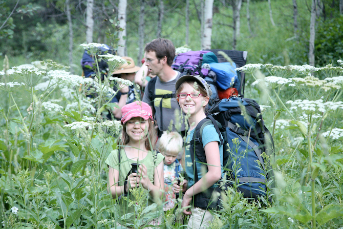 backpacking with kids