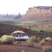 My camping style: no fees, no toilets, no people